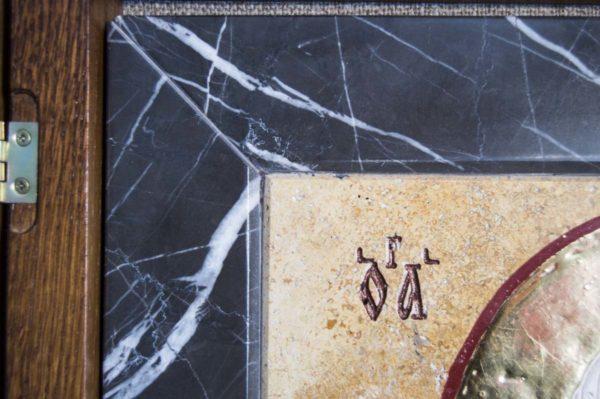 Икона Николая Чудотворца (Угодника) инд.№ 13 из мрамора, камня, изображение, фото 2