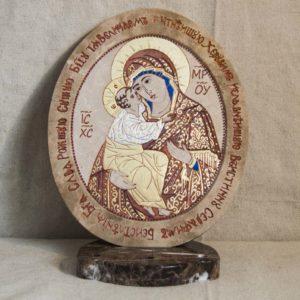 Икона Жировицкой (Жировичской) Божией Матери № 48 из мрамора, камня, изображение, фото 4