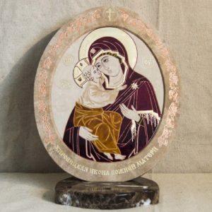 Икона Жировицкой (Жировичской) Божией Матери № 49 из мрамора, камня, изображение, фото 3