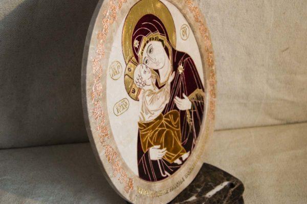 Икона Жировицкой (Жировичской) Божией Матери № 49 из мрамора, камня, изображение, фото 4