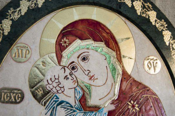 Икона Жировицкой (Жировичской) Божией Матери № 50 из мрамора, камня, изображение, фото 5