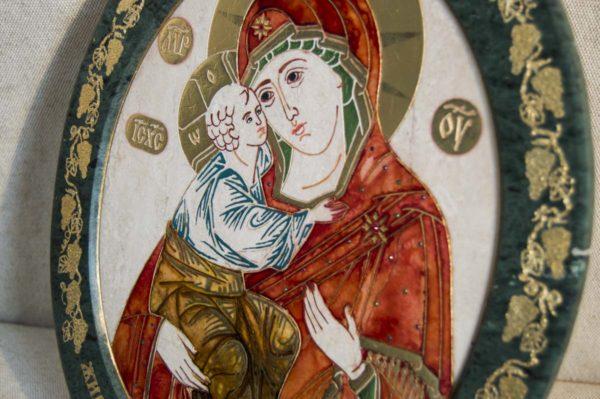 Икона Жировицкой (Жировичской) Божией Матери № 50 из мрамора, камня, изображение, фото 2