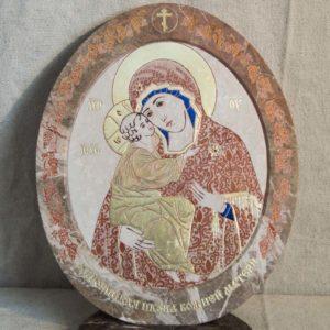 Икона Жировицкой (Жировичской) Божией Матери № 51 из мрамора, камня, изображение, фото 2