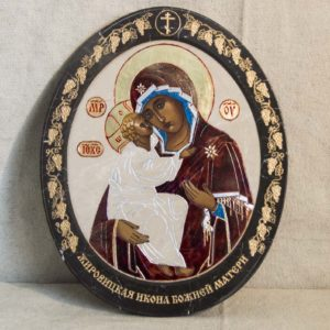 Икона Жировицкой (Жировичской) Божией Матери № 52 из мрамора, камня, изображение, фото 3