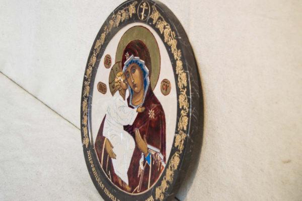 Икона Жировицкой (Жировичской) Божией Матери № 52 из мрамора, камня, изображение, фото 4