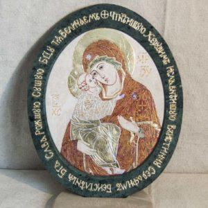Икона Жировицкой (Жировичской) Божией Матери № 10 из мрамора, камня, изображение, фото 2