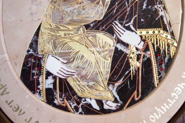 Икона Жировицкой (Жировичской) Божией Матери № п-26 из мрамора, камня, изображение, фото 6