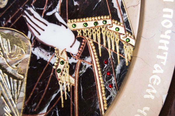 Икона Жировицкой (Жировичской) Божией Матери № п-26 из мрамора, камня, изображение, фото 11