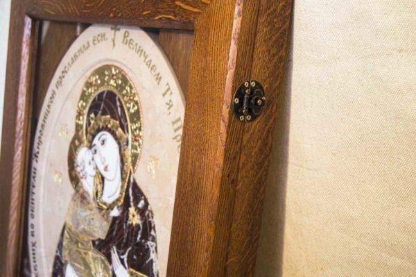 Икона Жировицкой (Жировичской) Божией Матери № п-26 из мрамора, камня, изображение, фото 8