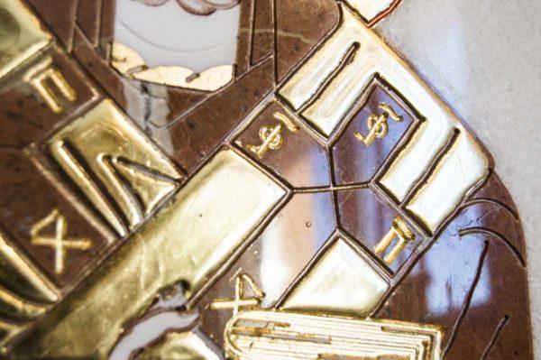 Икона Николая Чудотворца (Угодника) инд.№ 15 из мрамора, камня, изображение, фото 1