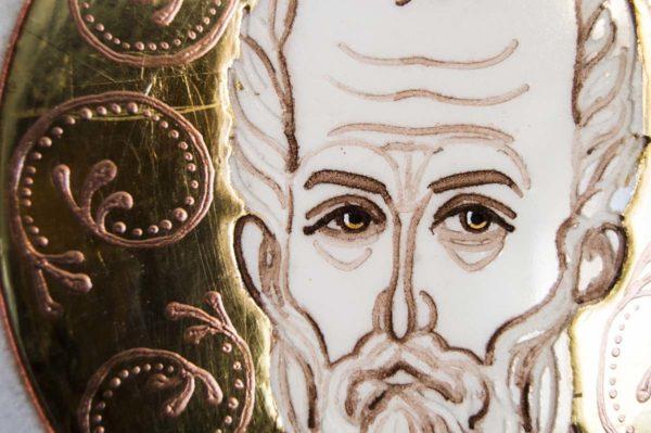 Икона Николая Чудотворца (Угодника) инд.№ 15 из мрамора, камня, изображение, фото 9