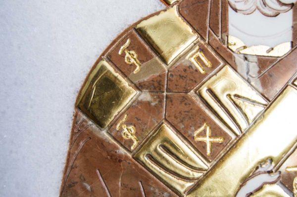 Икона Николая Чудотворца (Угодника) инд.№ 15 из мрамора, камня, изображение, фото 8