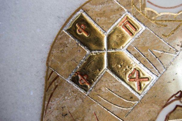 Икона Николая Чудотворца (Угодника) инд.№ 16 из мрамора, камня, изображение, фото 9