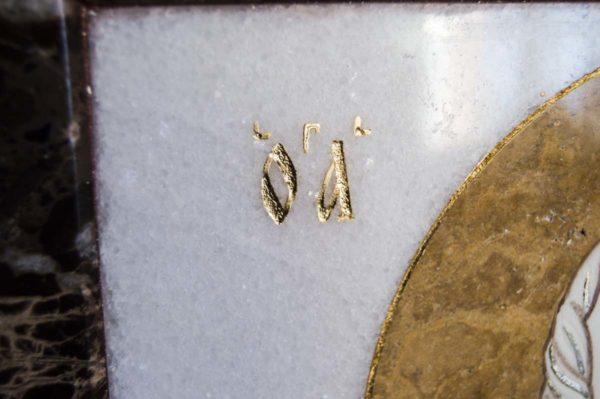 Икона Николая Чудотворца (Угодника) инд.№ 16 из мрамора, камня, изображение, фото 5