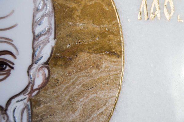 Икона Николая Чудотворца (Угодника) инд.№ 16 из мрамора, камня, изображение, фото 7