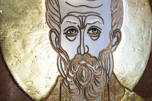 Икона Николая Чудотворца (Угодника) инд.№ 17 из мрамора, камня, изображение, фото 7