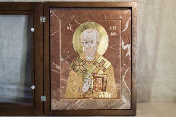 Икона Николая Чудотворца (Угодника) инд.№ 17 из мрамора, камня, изображение, фото 9