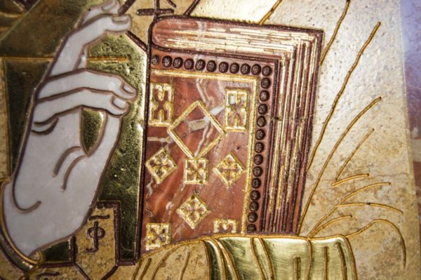 Икона Николая Чудотворца (Угодника) инд.№ 17 из мрамора, камня, изображение, фото 1