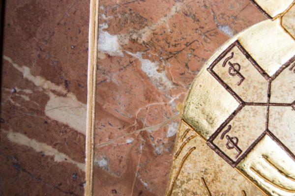 Икона Николая Чудотворца (Угодника) инд.№ 17 из мрамора, камня, изображение, фото 5