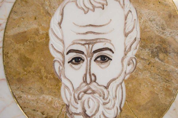 Икона Николая Чудотворца (Угодника) инд.№ 18 из мрамора, камня, изображение, фото 7