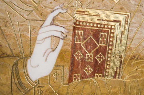 Икона Николая Чудотворца (Угодника) инд.№ 18 из мрамора, камня, изображение, фото 10