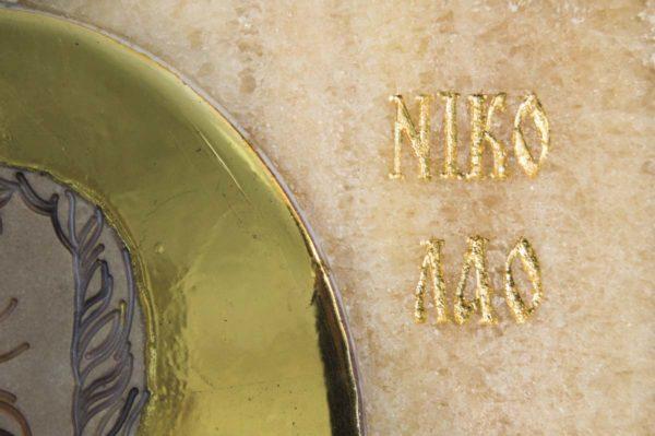 Икона Николая Чудотворца (Угодника) инд.№ 19 из мрамора, камня, изображение, фото 4