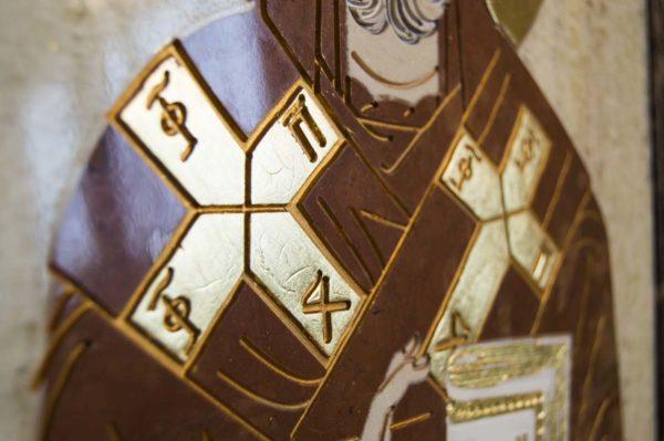 Икона Николая Чудотворца (Угодника) инд.№ 19 из мрамора, камня, изображение, фото 6