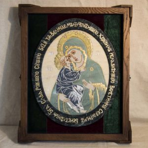 Икона Жировицкой (Жировичской) Божией Матери № п-27 из мрамора, камня, изображение, фото 6