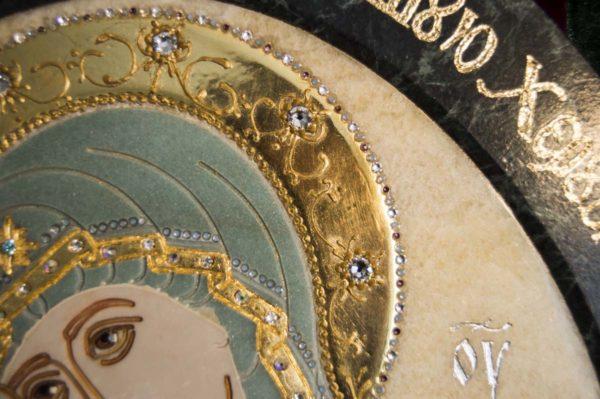 Икона Жировицкой (Жировичской) Божией Матери № п-27 из мрамора, камня, изображение, фото 9