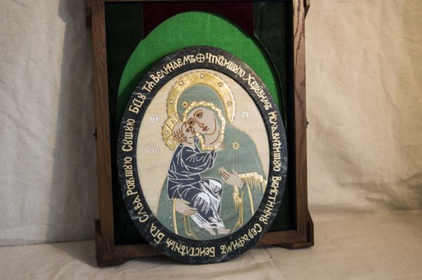 Икона Жировицкой (Жировичской) Божией Матери № п-27 из мрамора, камня, изображение, фото 14