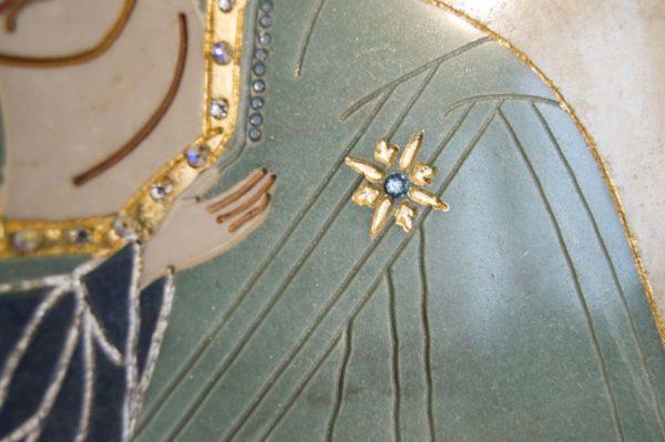 Икона Жировицкой (Жировичской) Божией Матери № п-27 из мрамора, камня, изображение, фото 13