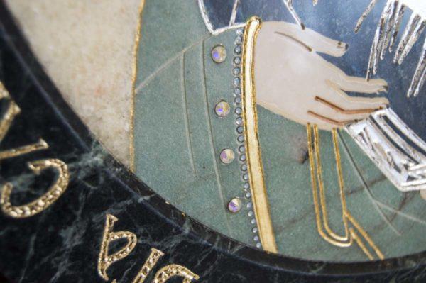 Икона Жировицкой (Жировичской) Божией Матери № п-27 из мрамора, камня, изображение, фото 1