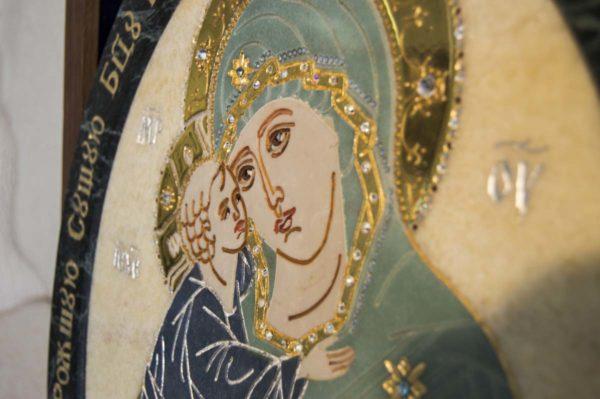 Икона Жировицкой (Жировичской) Божией Матери № п-27 из мрамора, камня, изображение, фото 10