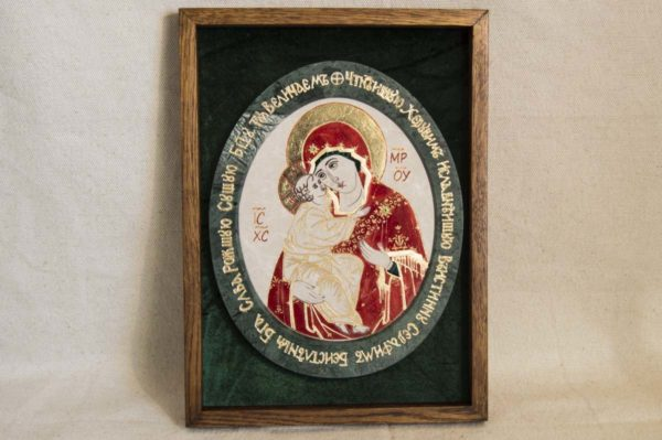 Икона Жировицкой (Жировичской) Божией Матери № 53 из мрамора, камня, изображение, фото 5