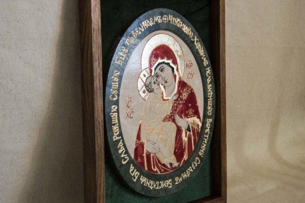 Икона Жировицкой (Жировичской) Божией Матери № 53 из мрамора, камня, изображение, фото 3