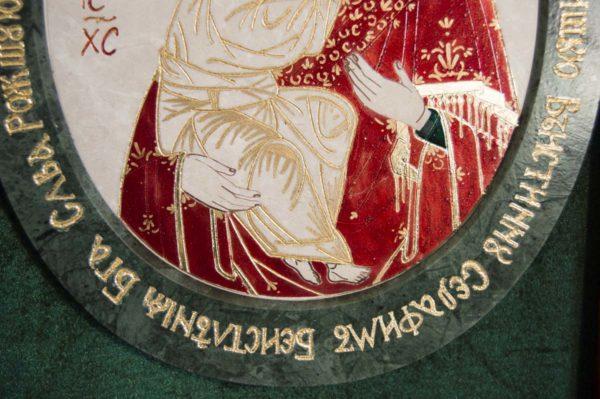 Икона Жировицкой (Жировичской) Божией Матери № 53 из мрамора, камня, изображение, фото 4