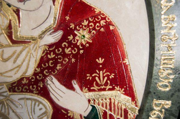 Икона Жировицкой (Жировичской) Божией Матери № 53 из мрамора, камня, изображение, фото 2