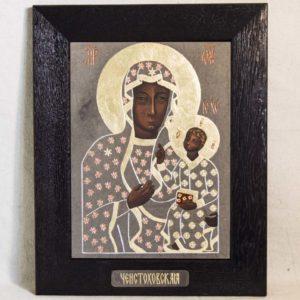 Икона Ченстоховской Божией Матери № 01 из мрамора, каталог икон, изображение, фото 3