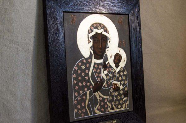 Икона Ченстоховской Божией Матери № 01 из мрамора, каталог икон, изображение, фото 10