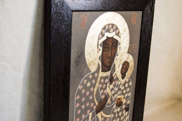 Икона Ченстоховской Божией Матери № 01 из мрамора, каталог икон, изображение, фото 5