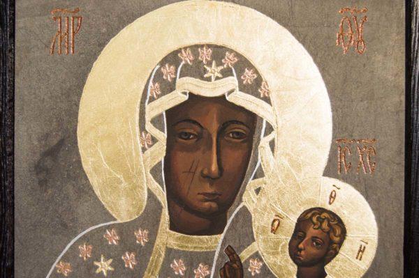 Икона Ченстоховской Божией Матери № 01 из мрамора, каталог икон, изображение, фото 12