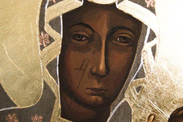 Икона Ченстоховской Божией Матери № 01 из мрамора, каталог икон, изображение, фото 6
