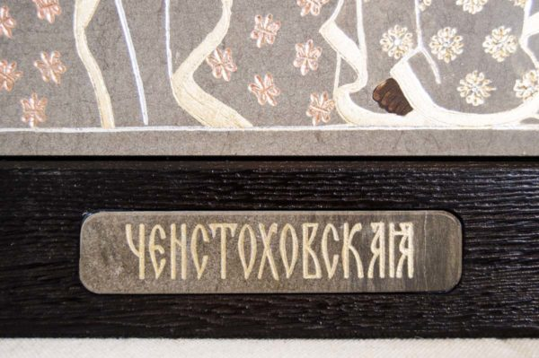 Икона Ченстоховской Божией Матери № 01 из мрамора, каталог икон, изображение, фото 7