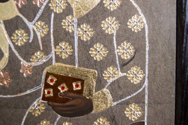 Икона Ченстоховской Божией Матери № 01 из мрамора, каталог икон, изображение, фото 11