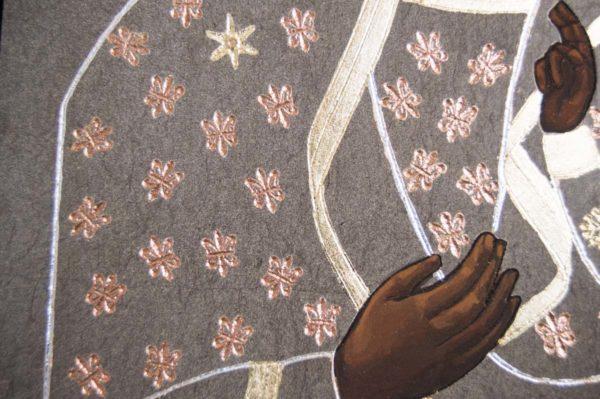 Икона Ченстоховской Божией Матери № 01 из мрамора, каталог икон, изображение, фото 9