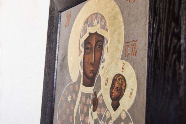 Икона Ченстоховской Божией Матери № 01 из мрамора, каталог икон, изображение, фото 2