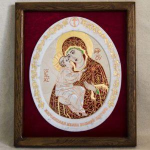 Икона Жировицкой (Жировичской) Божией Матери № 54 из мрамора, камня, изображение, фото 2
