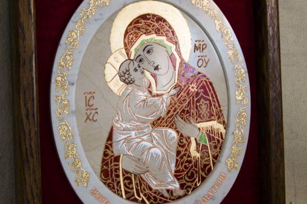 Икона Жировицкой (Жировичской) Божией Матери № 54 из мрамора, камня, изображение, фото 3