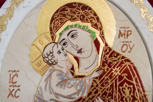 Икона Жировицкой (Жировичской) Божией Матери № 54 из мрамора, камня, изображение, фото 5