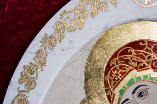 Икона Жировицкой (Жировичской) Божией Матери № 54 из мрамора, камня, изображение, фото 6